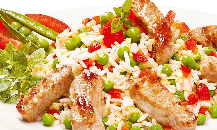 Allgäuer Reispfanne vom Bio-Schwein