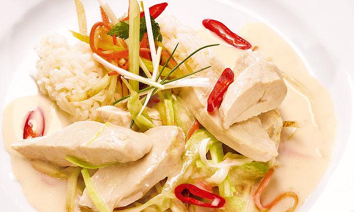 Hühnerfrikassee auf asiatische Art