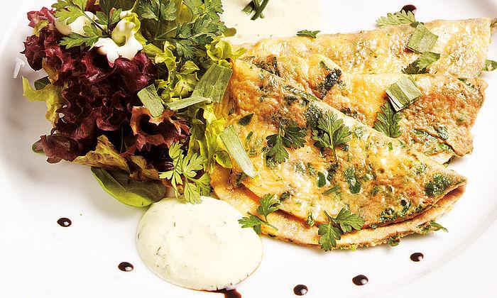 Frühlings-Omeletten