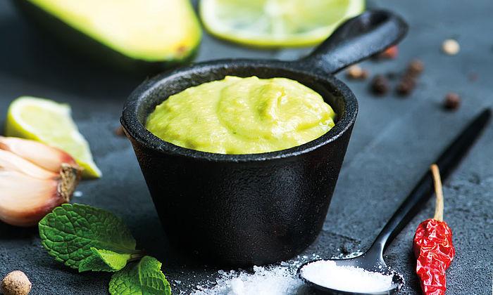 Avocado-Creme mit Knoblauch