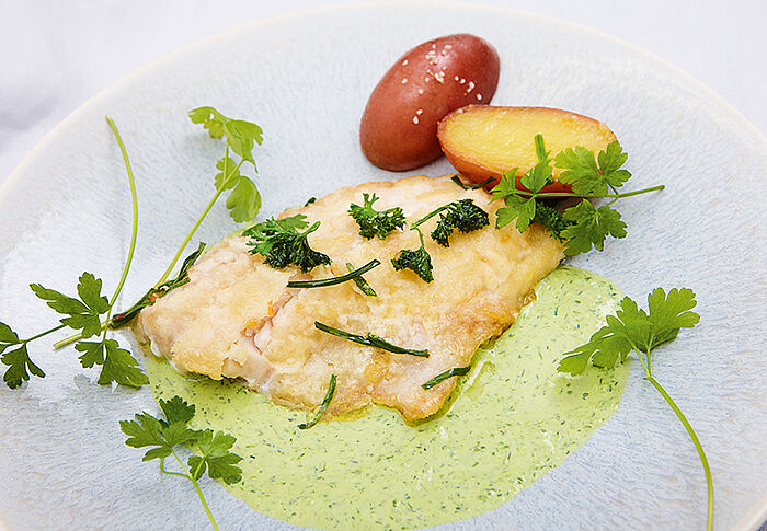 Fischfilet mit grüner Sause