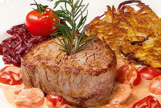 Zum Thema  Rezeptidee: Rinderfilet-Steaks mit roter Zwiebelmarmelade
