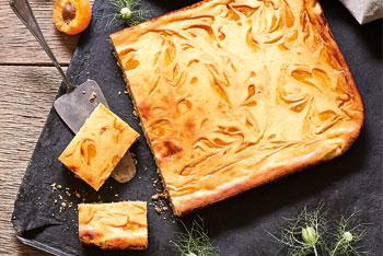 Blumenkohl-Aprikosen-Kuchen vom Blech