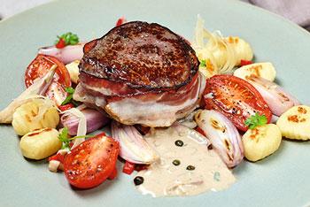 Filet vom Primarind mit Gourmella-Gnocchi an Marsalasoße