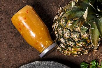 Ananas-BBQ-Sauce süss-sauer