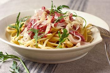 Allgäuer Salami-Spaghetti