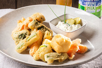 Gemüse-Sticks im Bierteig