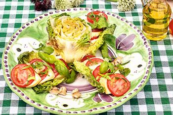 Tomaten & Backsteinkäse mit Waldhonig