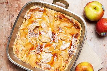 Apfelpfannkuchen im Ofen gebacken