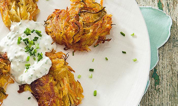 Kartoffel-Möhren-Rösti