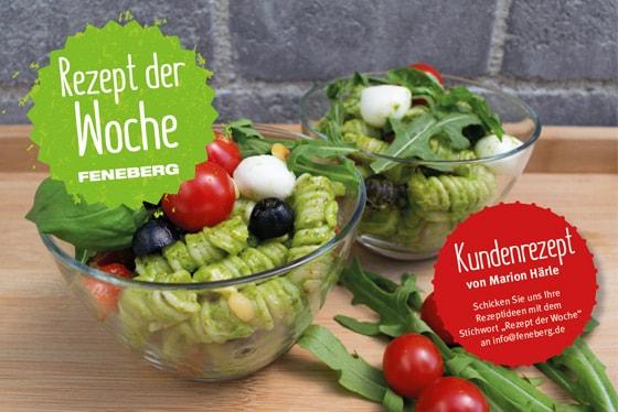 Zum Thema  Kundenrezept: Italienisch angehauchter Pesto-Nudelsalat