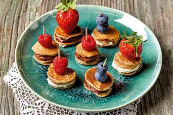 Mini-Pfannkuchen-Spieße