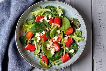 Erdbeer-Rhabarber-Salat
