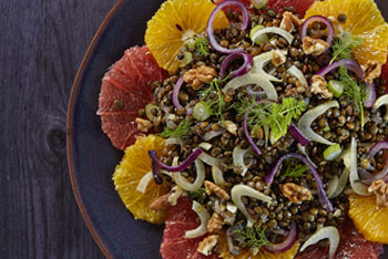 Fenchel-Zitrus-Salat mit Alblinsen