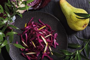 Birnen-Blaukraut-Salat