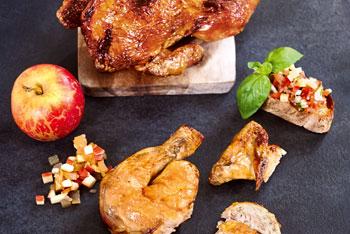 Grillhühner mit Apfel-Chutney